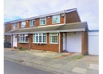 Thumbnail 3 bed semi-detached house for sale in Dorchester Court, Whitley Bay