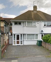 Thumbnail 3 bed semi-detached house to rent in Heathcroft Avenue, Sunbury-On-Thames