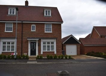 Thumbnail 3 bedroom town house for sale in Hall Lane, Woodbridge