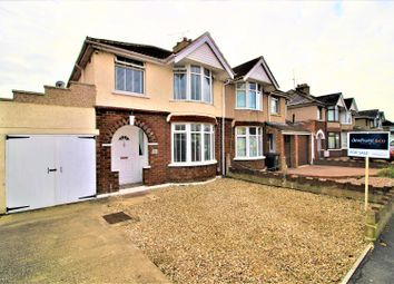 Thumbnail 4 bed semi-detached house for sale in Burford Avenue, Old Walcot, Swindon
