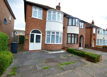 Thumbnail 3 bed semi-detached house to rent in Eastwood Road, Leicester