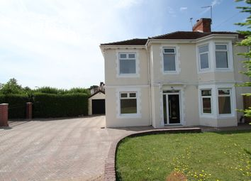 Thumbnail 4 bed semi-detached house for sale in Glasllwch Crescent, Newport