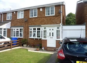 Thumbnail 3 bed semi-detached house for sale in Dorchester Court, New Hartley, Whitley Bay