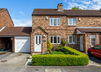 Thumbnail 3 bedroom end terrace house for sale in Beech Park Close, Riccall, York