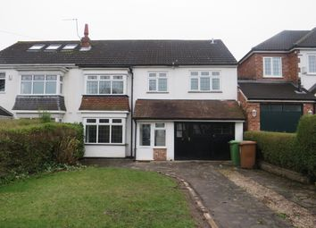 Thumbnail 4 bed semi-detached house to rent in Manor Road, Streetly, Sutton Coldfield