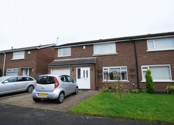 Thumbnail 3 bed semi-detached house for sale in Rookwood Drive, Seaton Burn, Newcastle Upon Tyne
