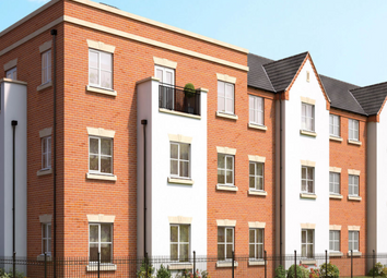 Thumbnail 2 bed flat for sale in The Abbey, Two Gates, Tamworth