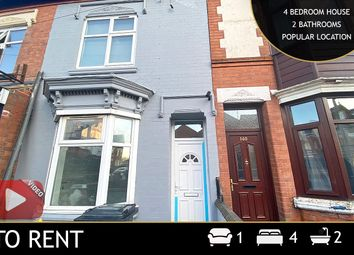 Thumbnail 4 bed end terrace house to rent in Fosse Road North, Leicester