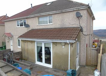 Thumbnail 2 bed semi-detached house for sale in Pearson Crescent, Glyncoch, Pontypridd