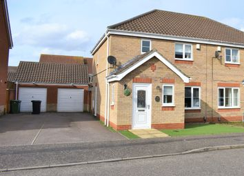 Thumbnail 3 bed semi-detached house for sale in Caraway Drive, Bradwell, Great Yarmouth