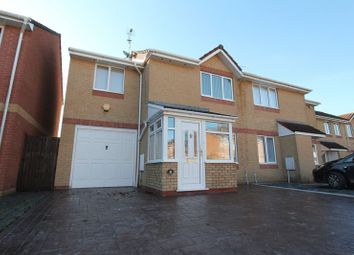 Thumbnail 3 bed semi-detached house for sale in Thistle Close, Barry