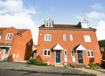 Thumbnail 3 bed semi-detached house for sale in Pedley Way, Bedford