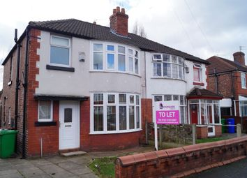 Thumbnail 3 bed semi-detached house to rent in Delacourt Road, Manchester