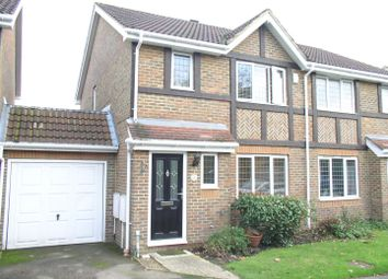 Thumbnail 3 bed semi-detached house for sale in Danesfield Close, Walton-On-Thames