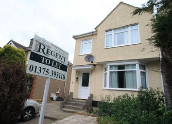 Thumbnail 3 bed semi-detached house to rent in Chadwell Road, Grays, Essex