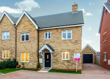 Thumbnail 3 bedroom semi-detached house for sale in Potter Meadows, Shortstown ( New Cardington), Bedford