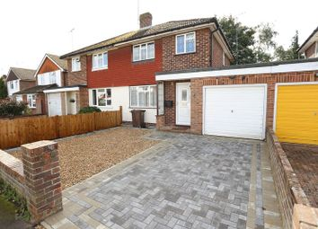 Thumbnail 3 bed semi-detached house to rent in Cottesmore Road, Woodley, Reading
