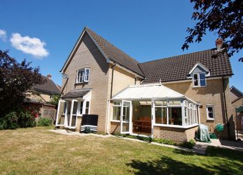 Thumbnail 4 bed detached house for sale in Wood Avens Way, Wymondham, Norfolk