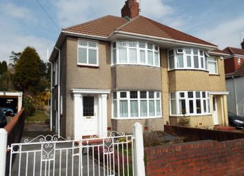 Thumbnail 3 bed semi-detached house for sale in Harlech Crescent, Sketty, Swansea