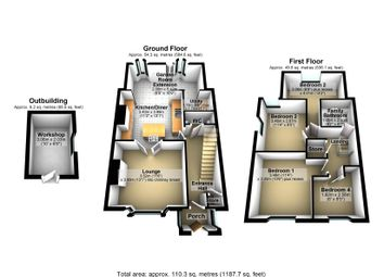 Thumbnail 4 bed terraced house for sale in Lytham Gardens, Nottingham