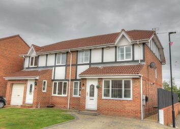 Thumbnail 3 bed semi-detached house for sale in Castlewood Close, West Denton, Newcastle Upon Tyne