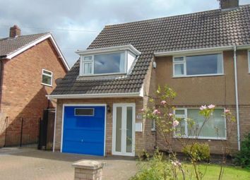 Thumbnail 3 bed semi-detached house to rent in Gloucester Crescent, Wigston