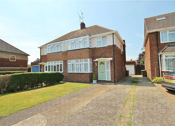 Thumbnail 3 bedroom semi-detached house for sale in Hogarth Avenue, Ashford, Middlesex