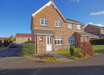 Thumbnail 3 bed semi-detached house for sale in Thirlwall Court, Longbenton, Newcastle Upon Tyne