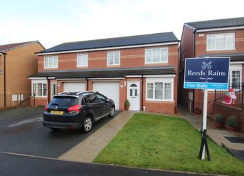Thumbnail 3 bed semi-detached house for sale in Cloverhill Court, Craghead, Stanley