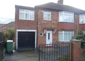 Thumbnail 4 bed semi-detached house to rent in Ridgeway, Fenham, Newcastle Upon Tyne