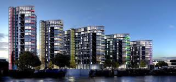 Thumbnail 3 bed flat for sale in Riverlight, London