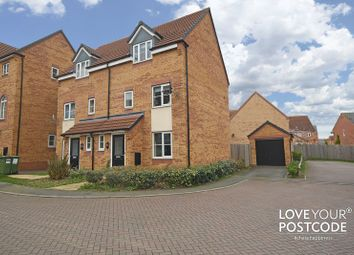 Thumbnail 3 bed town house for sale in Wellingar Close, Leicester