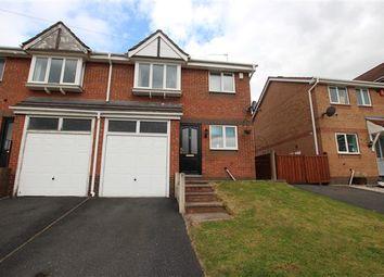 Thumbnail 3 bed semi-detached house for sale in Menai Grove, Longton, Stoke-On-Trent