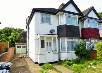 Thumbnail 3 bed semi-detached house for sale in Bideford Avenue, Perivale, Greenford, Greater London
