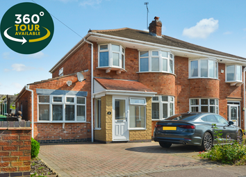 Thumbnail 4 bed semi-detached house for sale in Lynmouth Drive, Wigston, Leicester