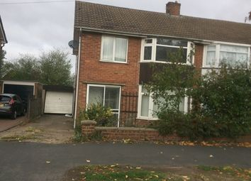 Thumbnail 3 bed semi-detached house to rent in Ledwell Drive, Glenfield, Leicester