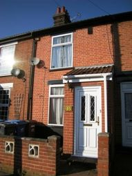 Thumbnail 3 bed terraced house to rent in Woodville Road, Ipswich