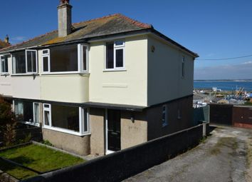 Thumbnail 3 bed semi-detached house for sale in Kenstella Road, Newlyn, Penzance, Cornwall