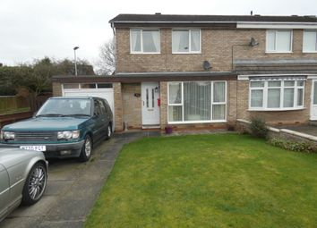 Thumbnail 3 bed semi-detached house for sale in Denham Drive, Seaton Delaval, Whitley Bay