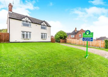 Thumbnail 3 bed detached house for sale in Burton Road, Castle Gresley, Swadlincote, Derbyshire