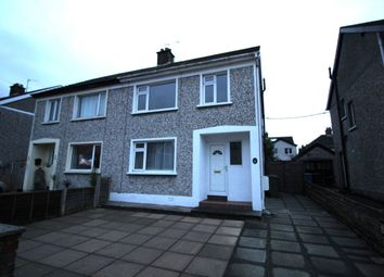 Thumbnail 3 bed semi-detached house to rent in Broomhill Park, Bangor