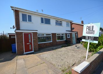 Thumbnail 3 bedroom semi-detached house to rent in All Saints Road, Lowestoft, Suffolk
