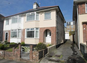 Thumbnail 3 bed semi-detached house for sale in Lopes Road, Plymouth