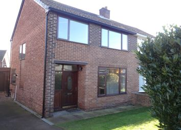 Thumbnail 3 bed semi-detached house to rent in Manor Crescent, Walton, Wakefield