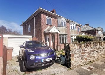 Thumbnail 3 bed semi-detached house to rent in Effingham Crescent, Hartley, Plymouth