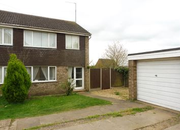 Thumbnail 3 bed semi-detached house for sale in Northfield Avenue, Ringstead, Kettering