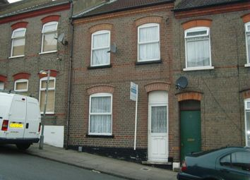 Thumbnail 3 bed terraced house to rent in Tennyson Road, Luton