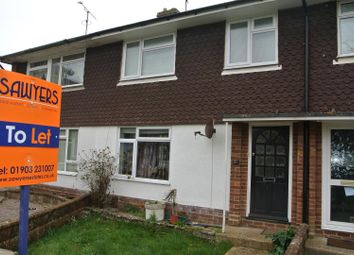 Thumbnail 3 bed terraced house to rent in Cedar Avenue, Worthing