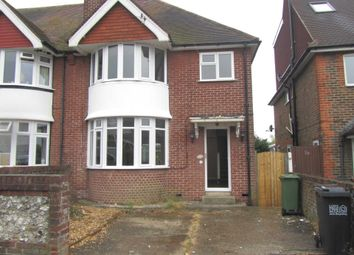 Thumbnail 3 bed semi-detached house to rent in Harding Avenue, Eastbourne, East Sussex