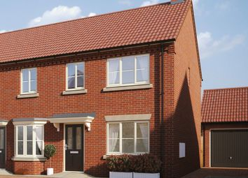 Thumbnail 2 bed semi-detached house for sale in Buzzard Way, Holt